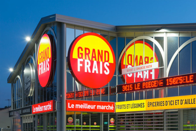 Meelk Grand Frais Magasin Retail Toiles Tendues