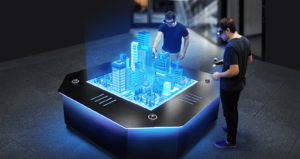 Hologramme Table Immobilier Virtuel Digital